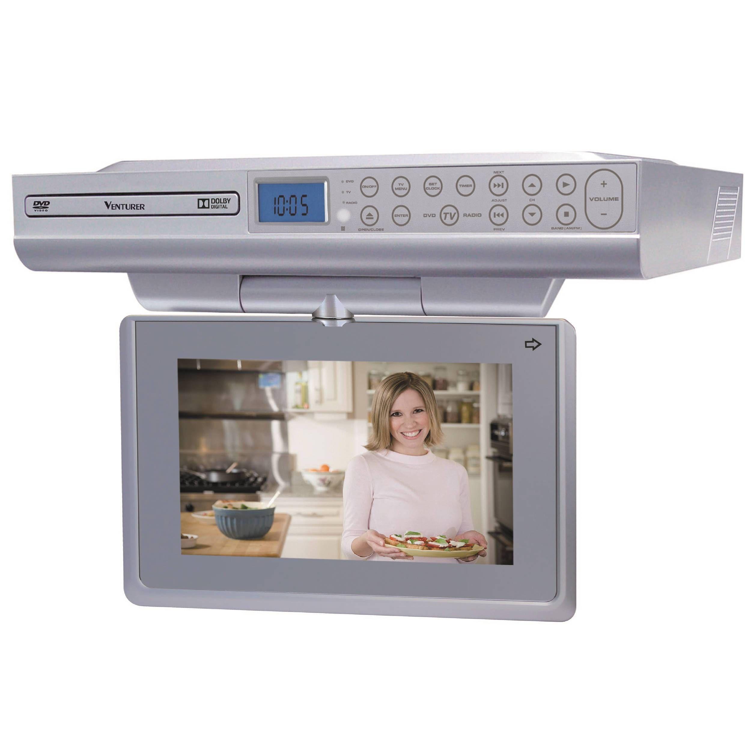 counter tv dvd combo rca kitchen lcd tv dvd combo trutech lcd tv dvd