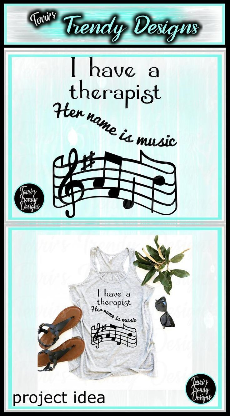 I have a therapist her name is music original quote svg