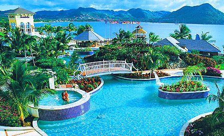 Sandals Grande St Lucia... Honeymooners :)