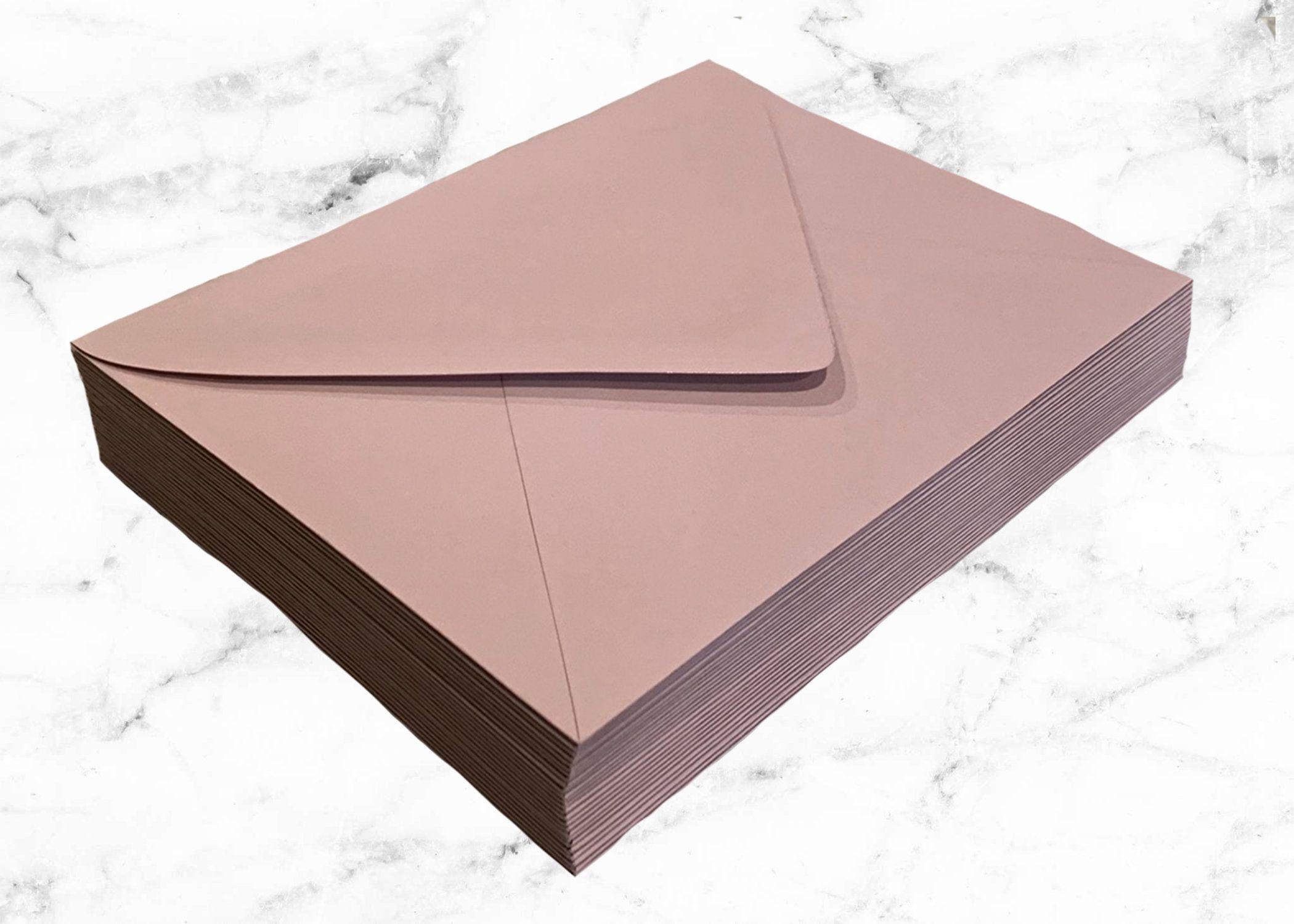 25 rose pink a7 envelopes dusty pink envelope pointed