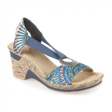 undefeated x on feet images of super popular Pavers, Rieker, Wedge Heel Patterned Sandal, SS45267 ...