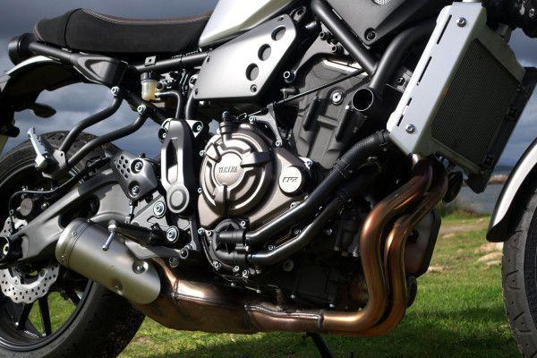 Der Reihenzweizylinder der Yamaha