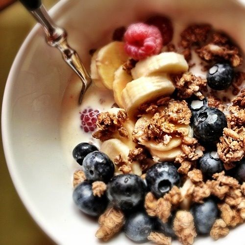 Granola Breakfast - add almond milk and fruit. #charlottepediatricclinic