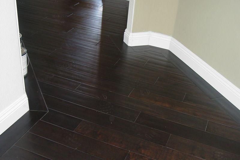 Dark wood floors with white trim home decor pinterest for Dark wood floors