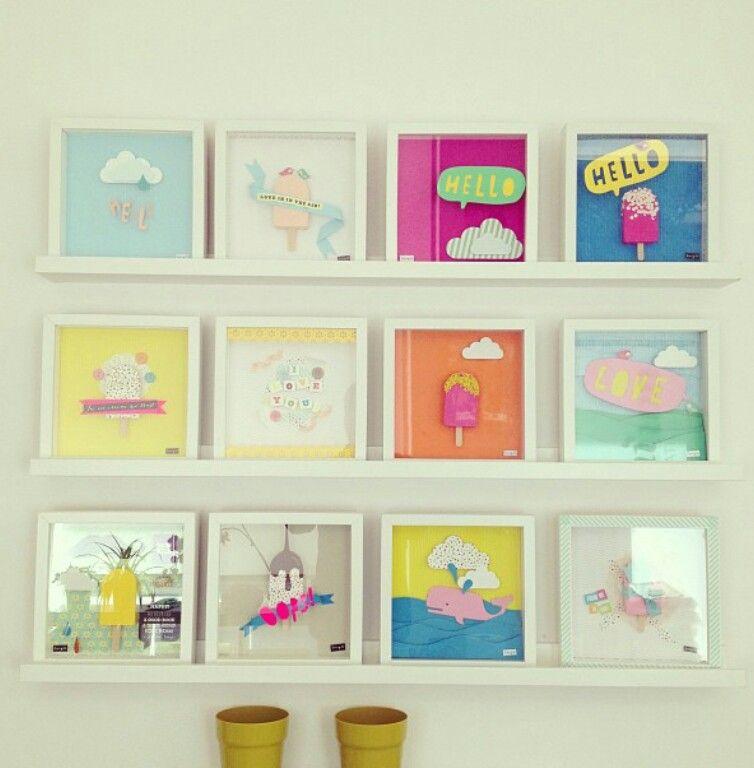 cuadros enmarcados en marcos blancos de Ikea | DECORACION cuadros ...