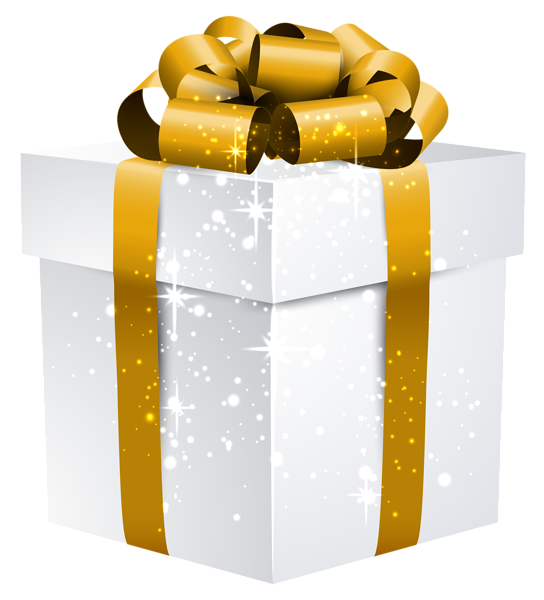 White shining gift box with gold bow png clipart image images white shining gift box with gold bow png clipart image negle Image collections