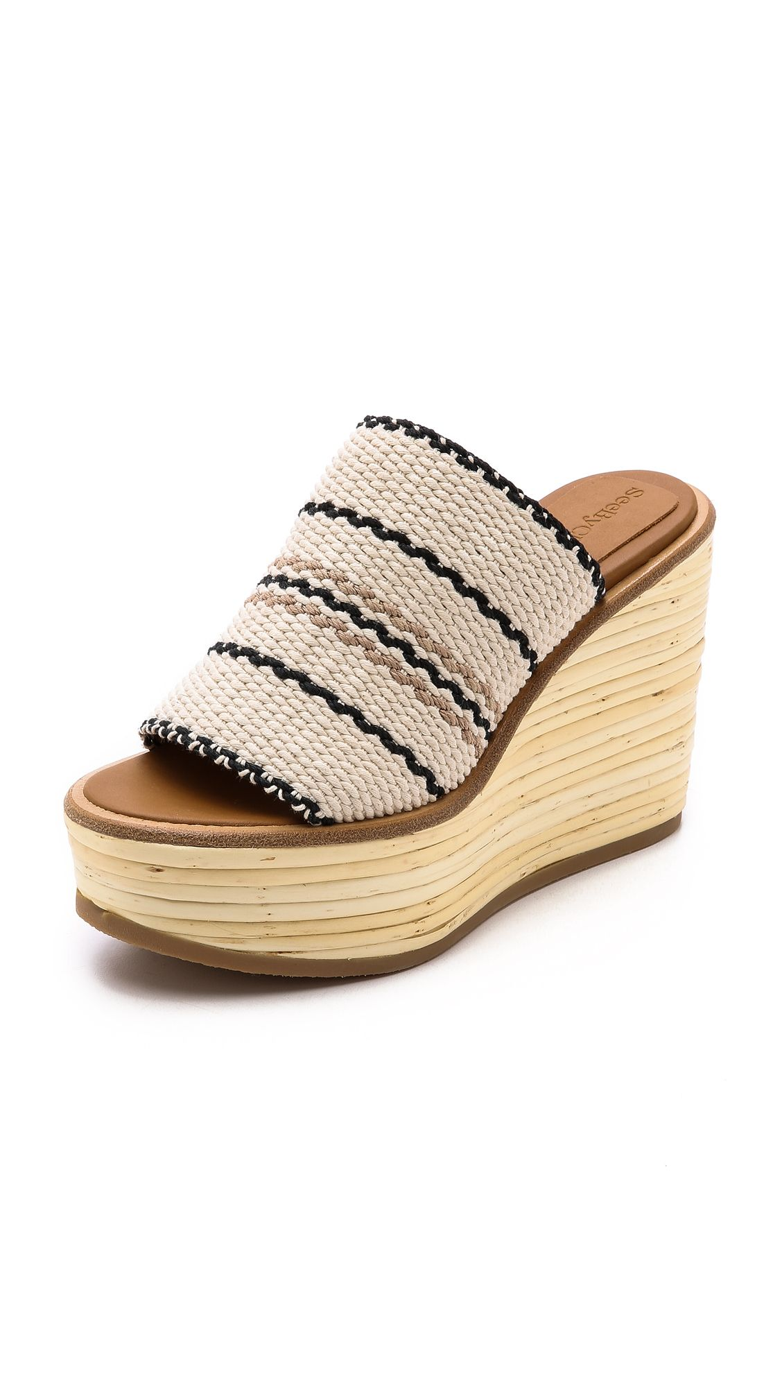 89cfce66a1 Bamboo Wedge Slides   Ballet flats   See by chloe, Chloe sandals, Wedges