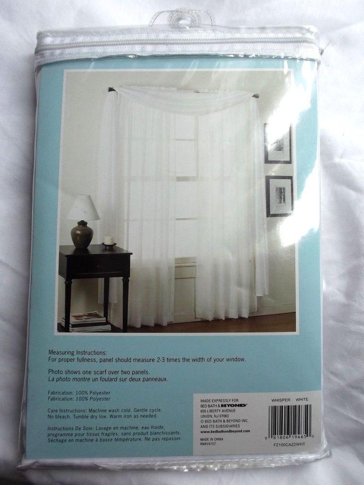 Bed Bath And Beyond Whisper Batiste Sheer Window Single Panel Rod