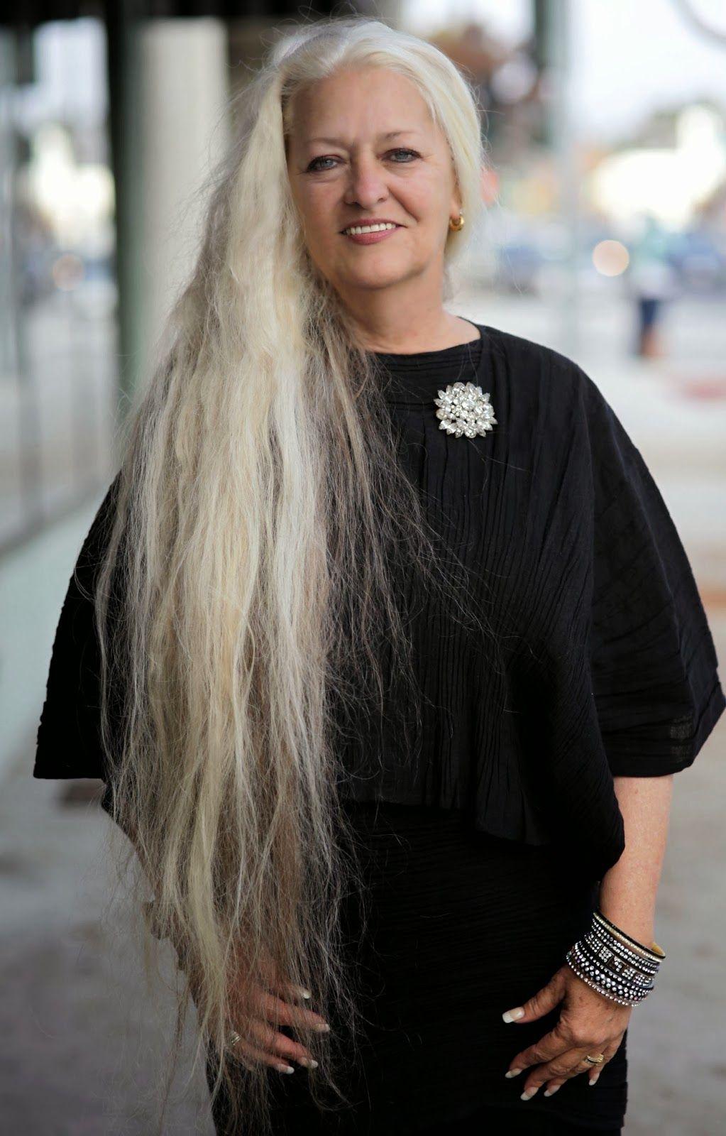 Advanced Style Silver Age Long Hair Styles Long Gray Hair Beautiful Long Hair