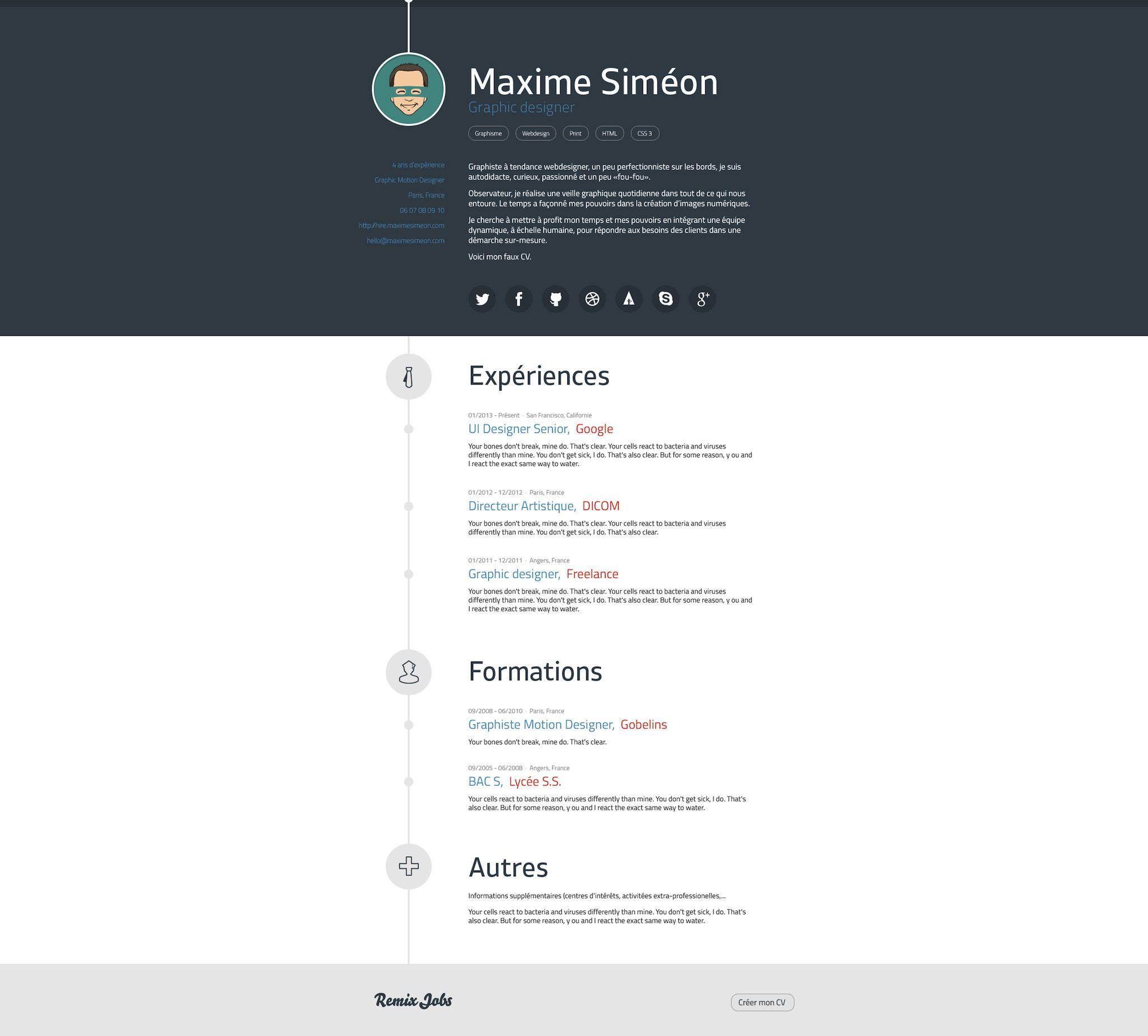 Http Remixjobs Com Blog Wp Content Uploads 2013 07 Maxime Simeon Web Jpg Formation Graphiste Directeur Artistique Jobs