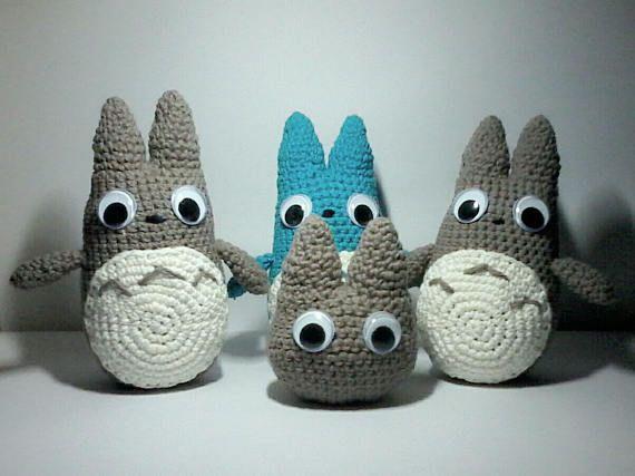 Amigurumi Totoro : Mini totoro amigurumi doll crochet doll toys unique toys