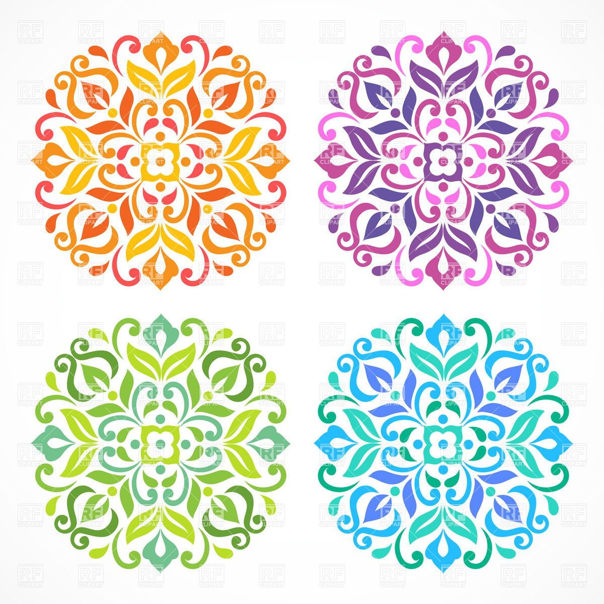 Pictures of Mandala Simple Flower - #rock-cafe