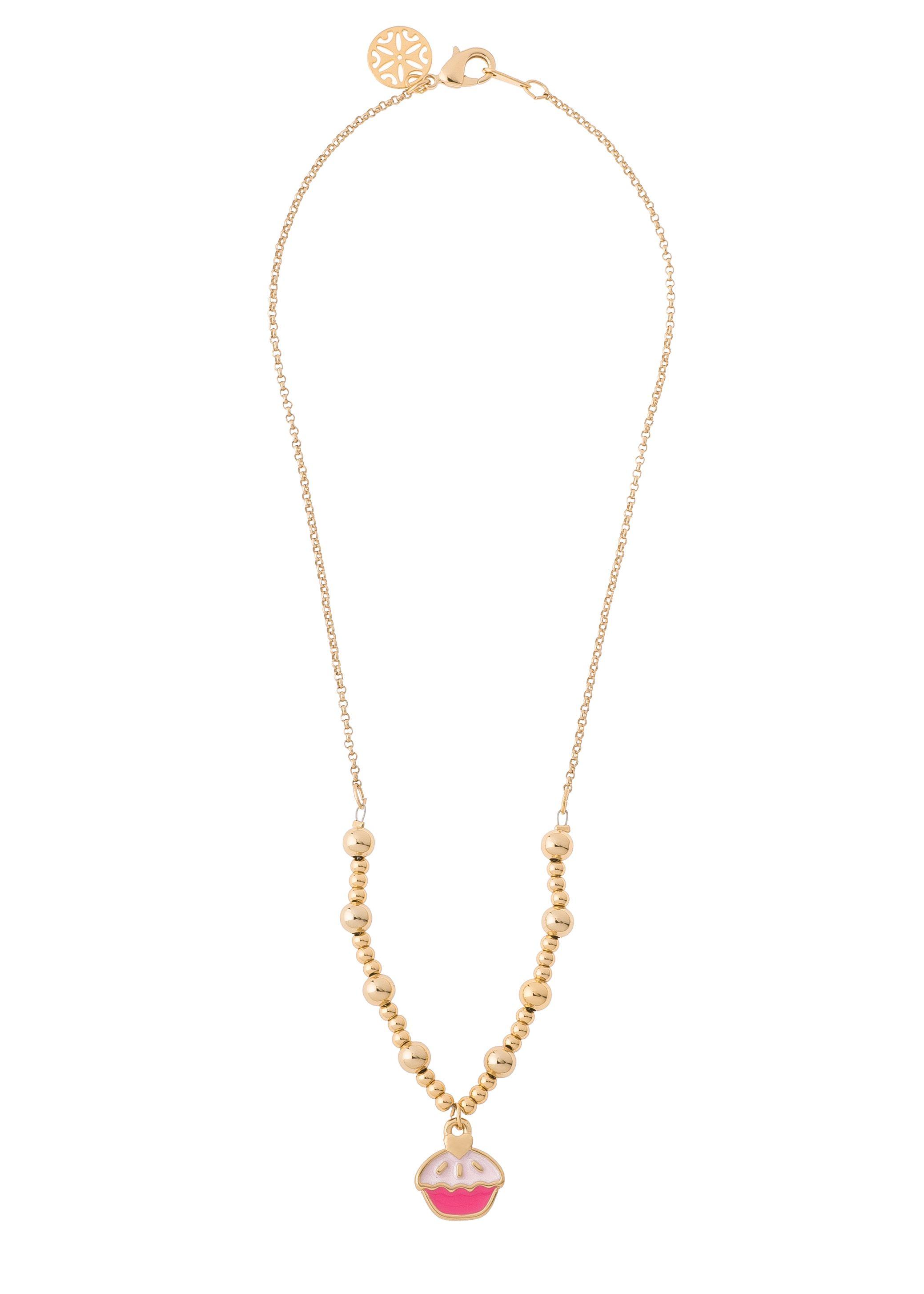 183ea8c0c45 Collar 118952 Collar para niña de 38cm de largo, con baños de oro y ...