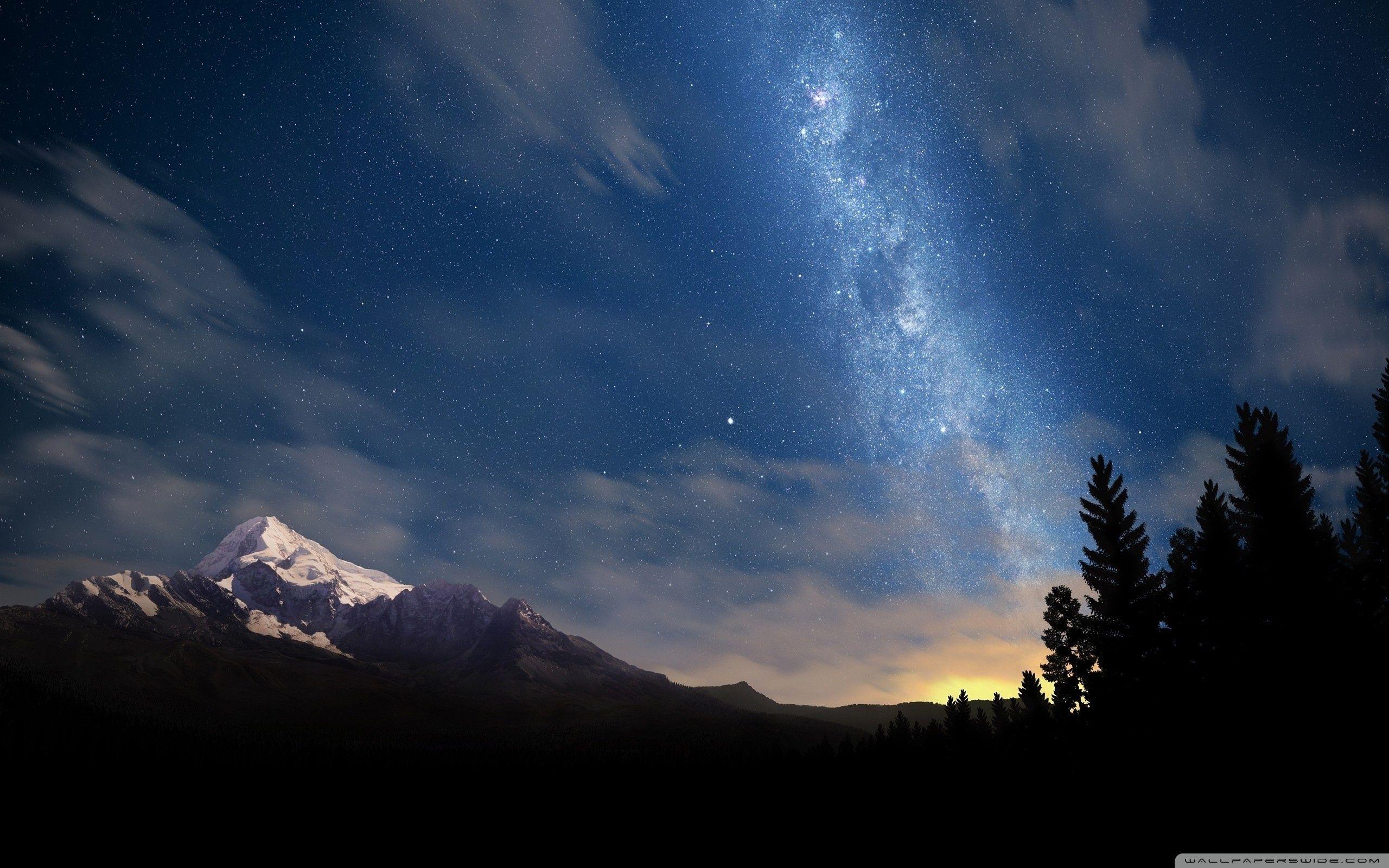 Starry Night Sky Hd Desktop Wallpaper High Definition Night Sky Wallpaper Night Sky Hd Starry Night Sky Wallpaper