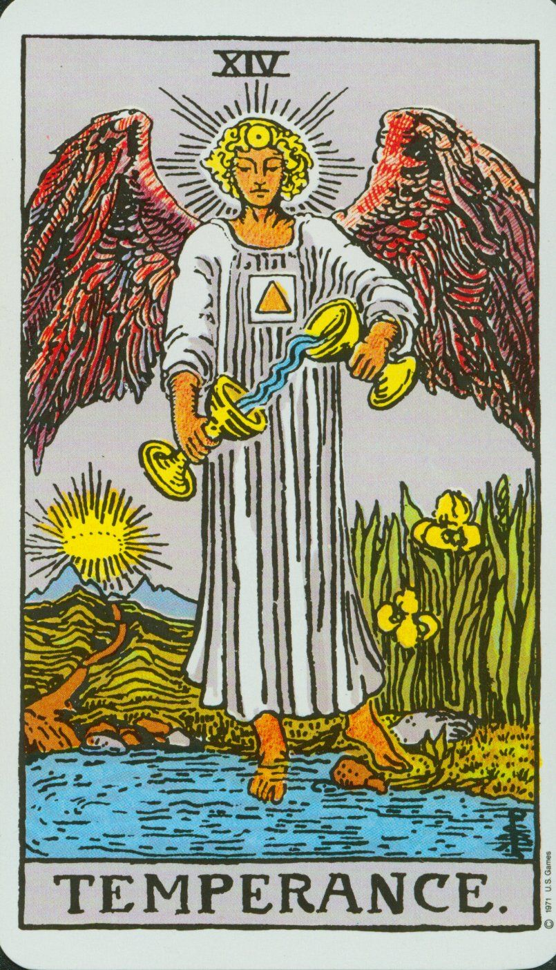 Jupiter And Temperance Temperance Is The Arcana Card That