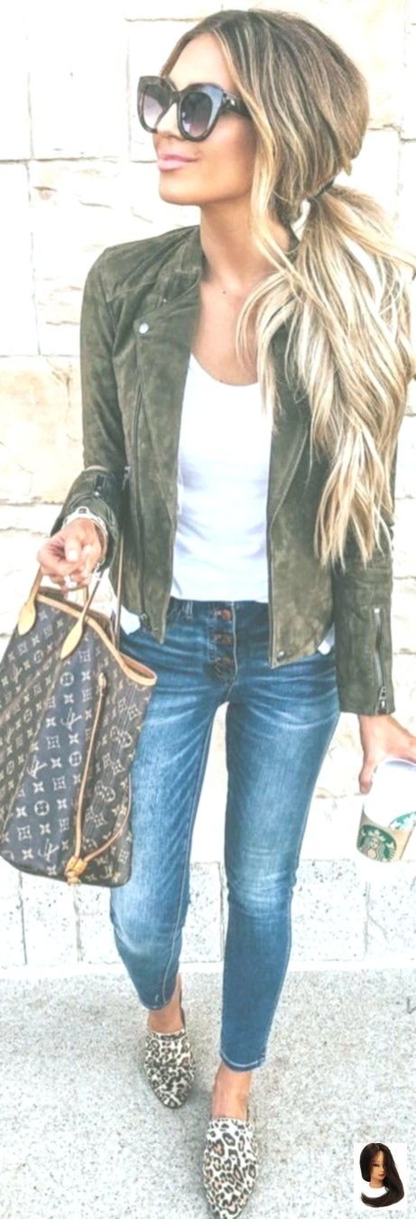 #summer #Outfits Damen marine-grün Zip-up-Jacke. #fallfashion #fashion #spring