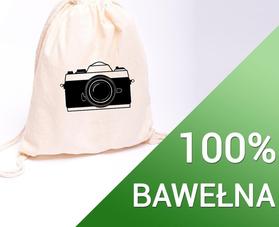 Eko Plecak Bawelniany Z Nadrukiem Wzor Aparat 5616835182 Oficjalne Archiwum Allegro Laundry Bag Bags Laundry Organization