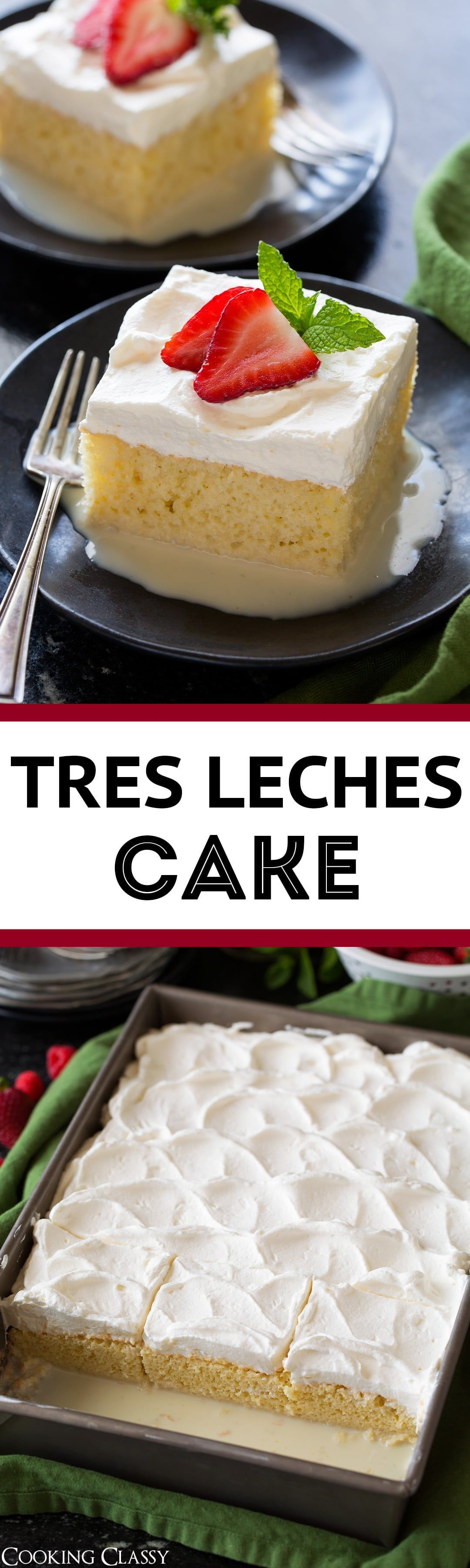 Tres Leches Cake - one of the BEST Mexican desserts! It a deliciously rich and moist, milk soaked cake that always gets compliments every time I make it. It's sweet and refreshing and even picky eaters love this tempting cake! Leches Cake - one of the BEST Mexican desserts! It a deliciously rich and moist, milk soaked cake that always gets compliments every time I make it. It's sweet and refreshing and even picky eaters love this tempting cake!