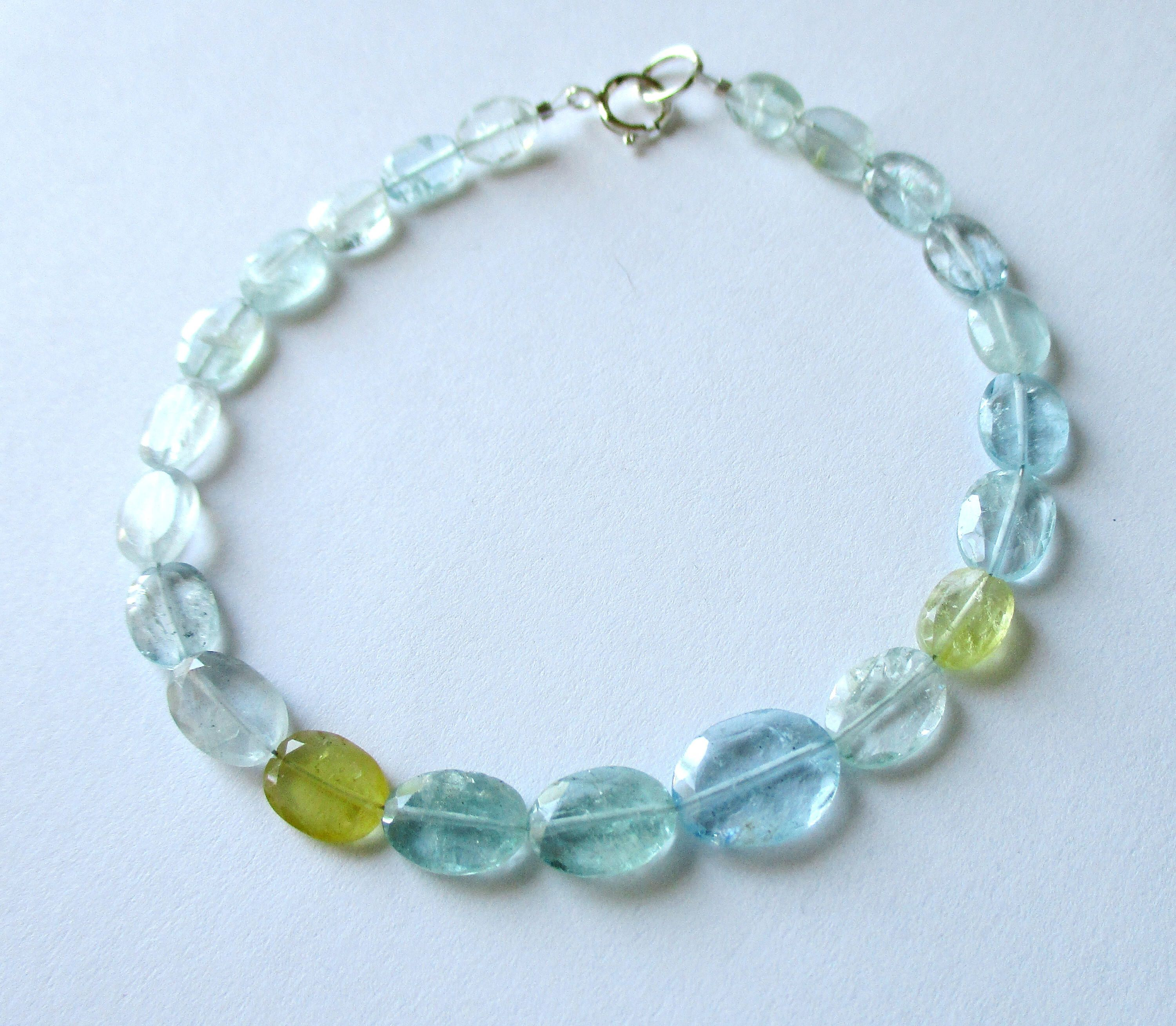 by stacking bracelet on beaded jewelry gemstone aquamarine beadsware jewellery pin