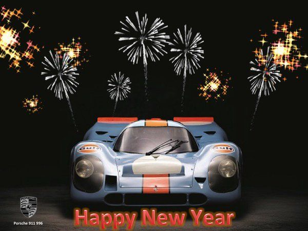 Image result for porsche happy new year