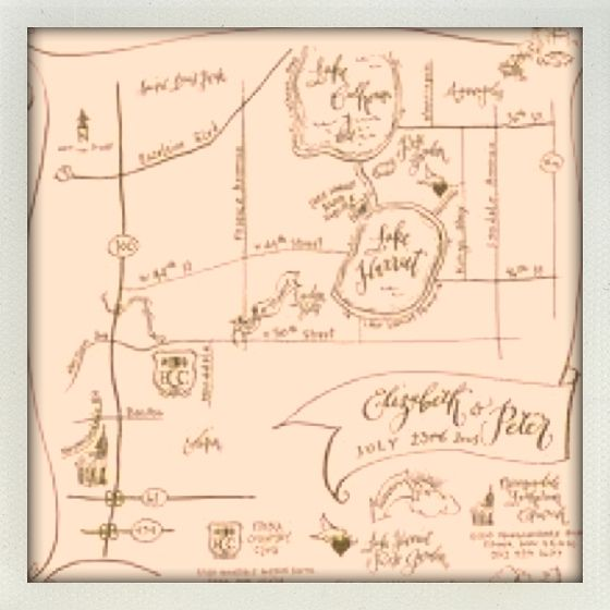 Definitely want to include a hand drawn map in the invites Wedding