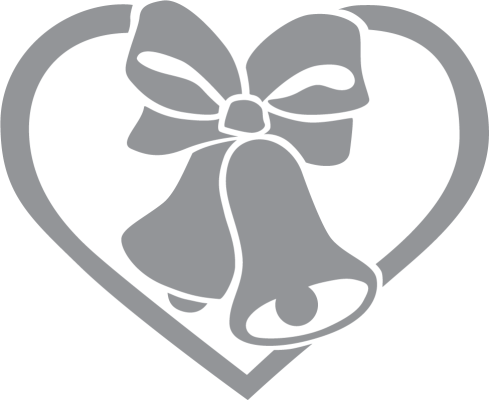 Wedding Bells With Ribbon And Heart Wedding Bells Glass Etching Stencils Bells