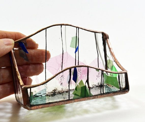 Business card holder stained glass collage by rosemarysglassart business card holder stained glass collage by rosemarysglassart colourmoves