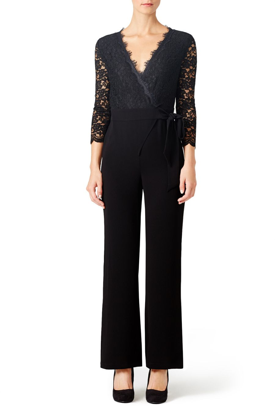 dbe58a8788df Jumpsuits You Could Totally Get Away With Wearing to A Wedding. Diane von  Furstenberg Christie Jumpsuit: http://www.stylemepretty.com/
