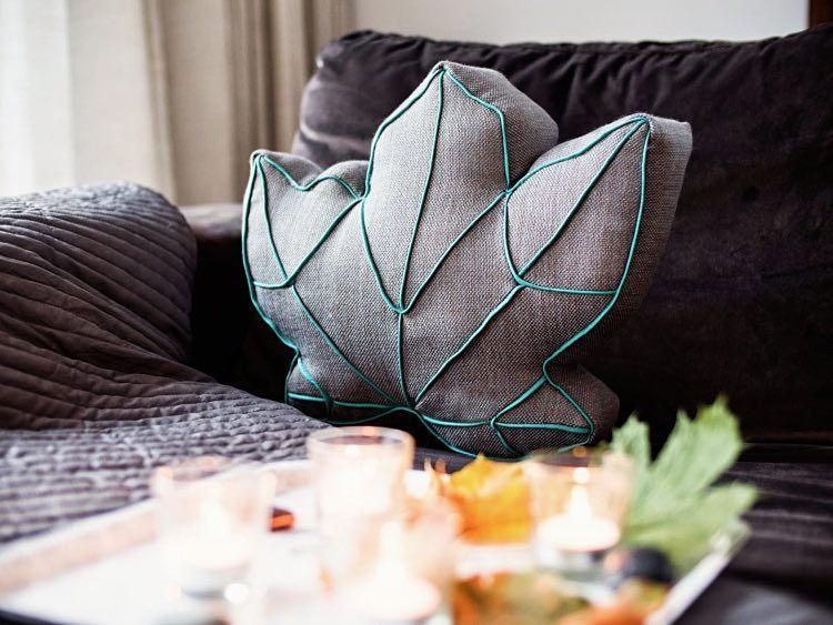 Tutorial fai da te: Come fare un cuscino a forma di foglia via DaWanda.com
