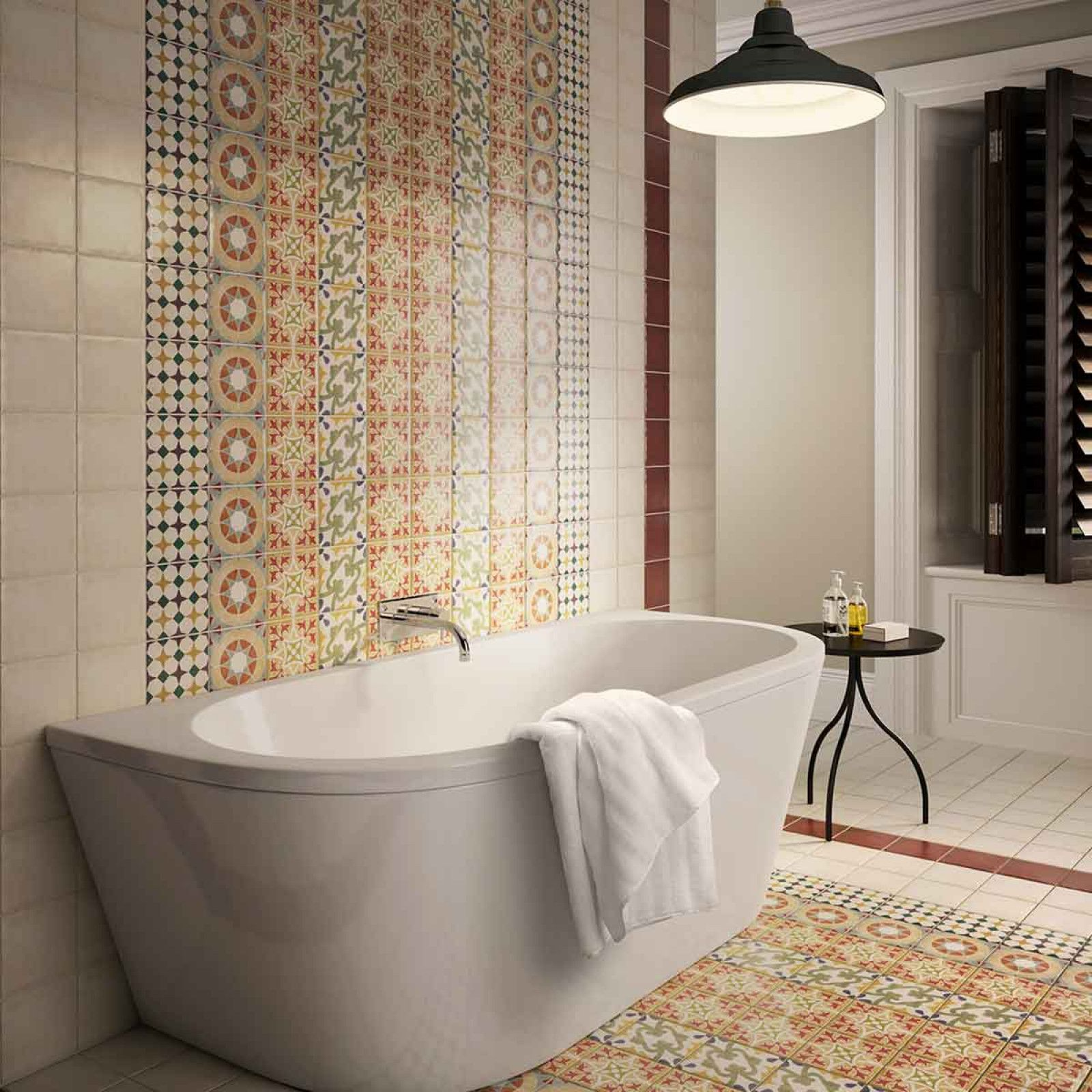 These colourful multi-use patterned tiles comes in 4 different ...