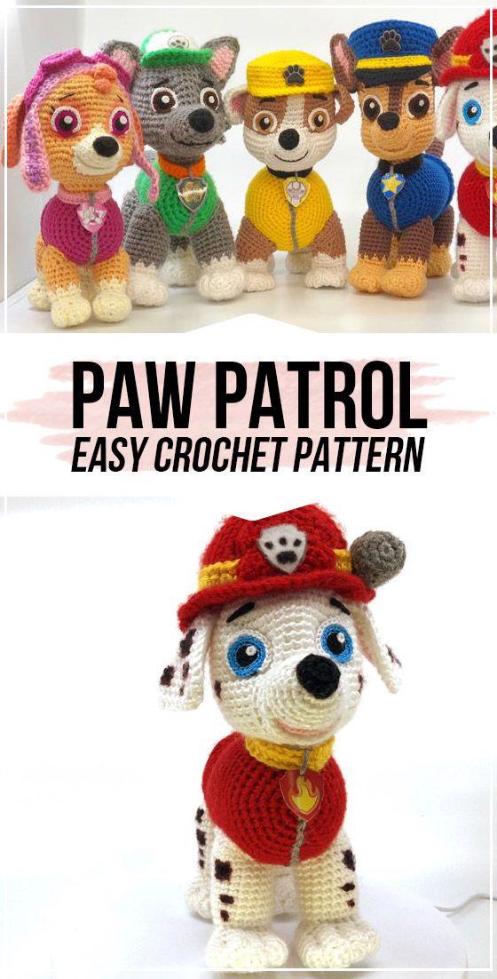 Crochet Paw Patrol Pattern - Crochet patterns amigurumi, Amigurumi pattern, Crochet, Crochet amigurumi, Crochet patterns, Easy crochet patterns - Crochet Paw Patrol Pattern