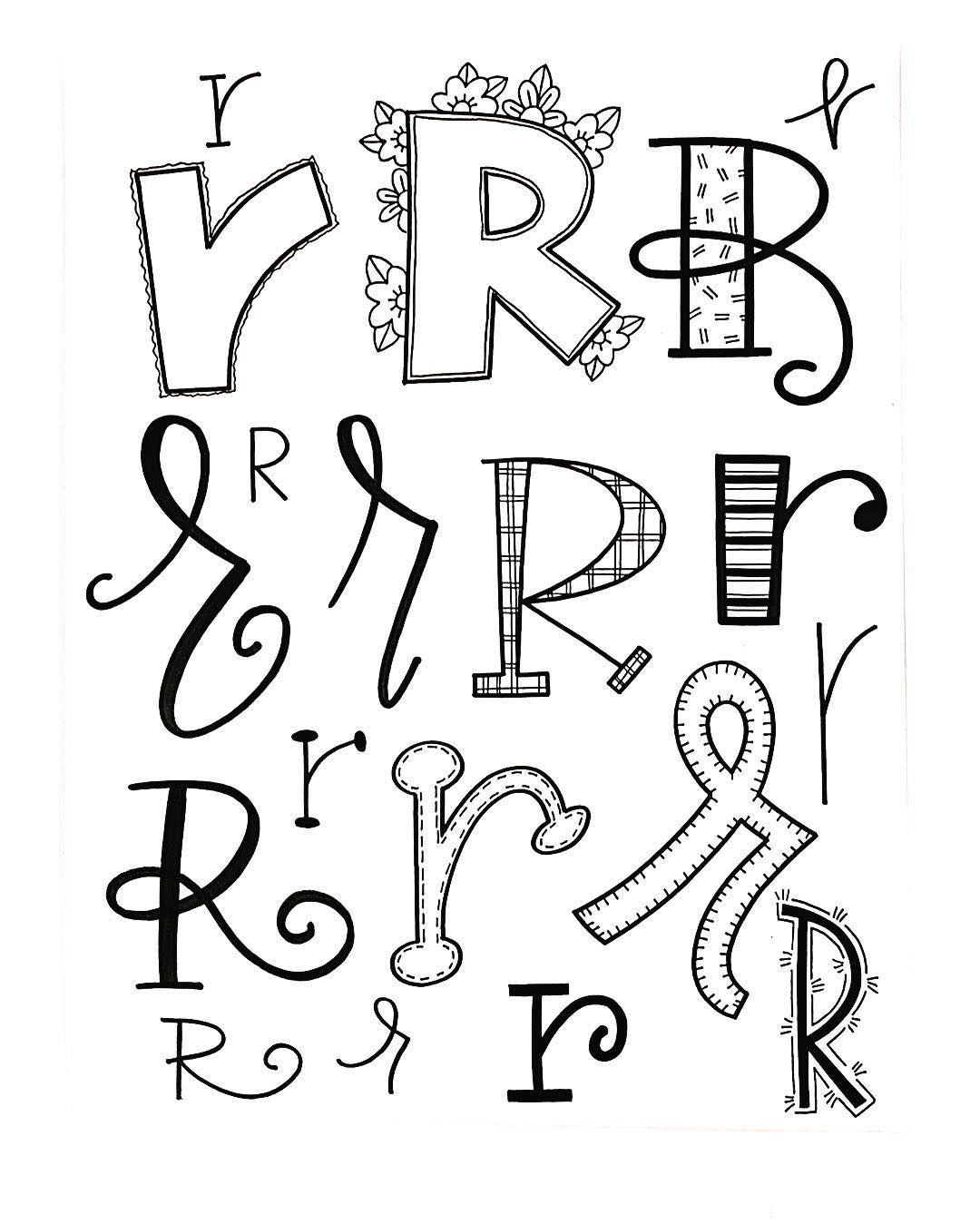 Letter R Handletteredabcs Handletteredabcs AbcsR