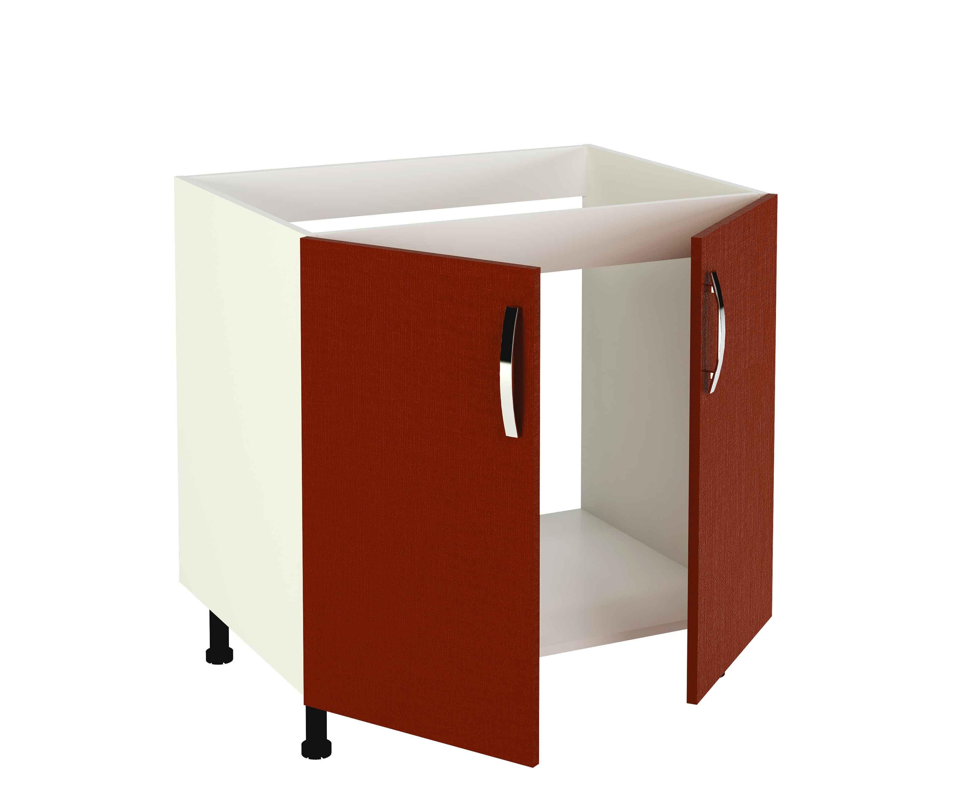 Mueble de cocina Kit&Kit en burdeos, con puertas y patas regulables ...