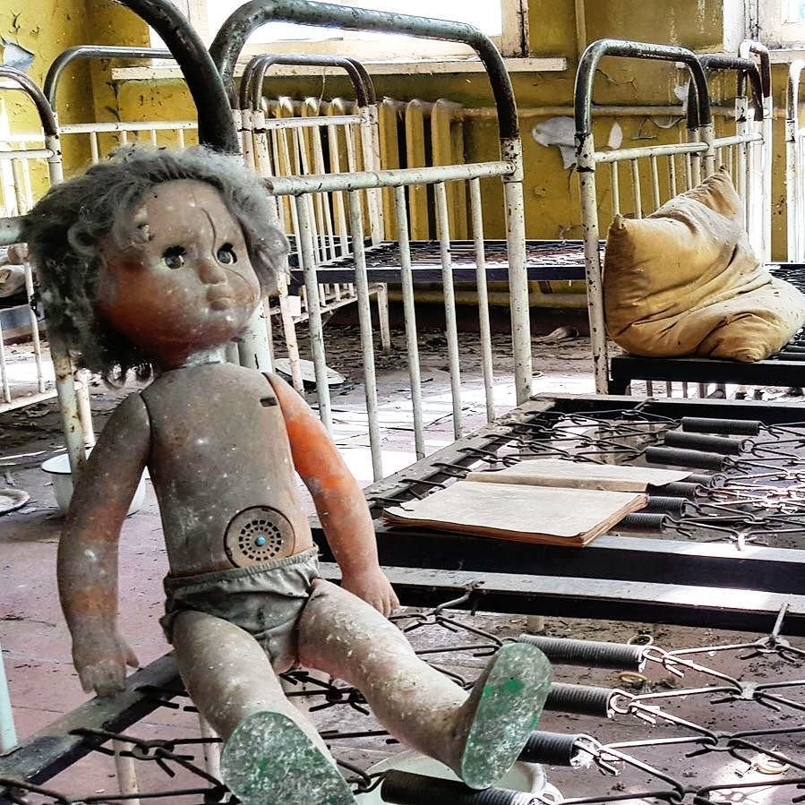 My second last doll for Doll Week and it's another throwback to my days in Chernobyl. This one was taken in a children's bedroom in a decaying school. How cool is that!?