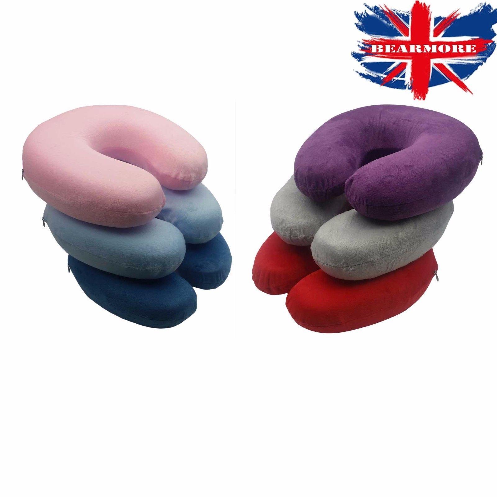 Travel neck pillow memory foam cushion soft u shape support headrest