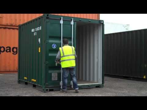 The Following Video Shows A 10ft X 8ft X 8 5ft New Build Shipping Container For Further Inf Shipping Container Storage Containers For Sale Containers For Sale