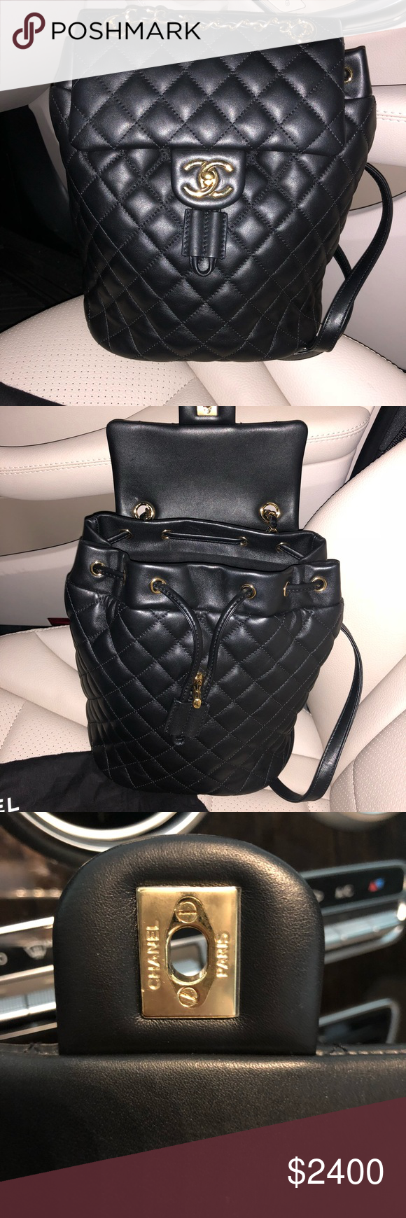 ae6b54bdf0cf Chanel Quilted Spirit Backpack Black Lambskin GHW Brand new Chanel Quilted Urban  Spirit Backpack in Black
