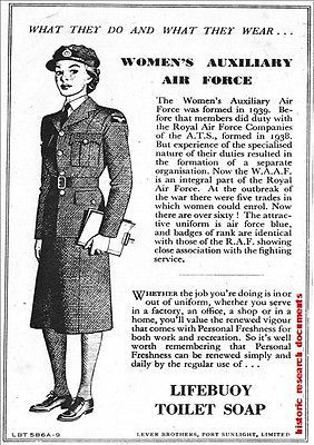 e5596add6df WAAF-Womens-Auxiliary-Air-Force-WW2-Women-in-Wartime-Advert-Print-A4-Size