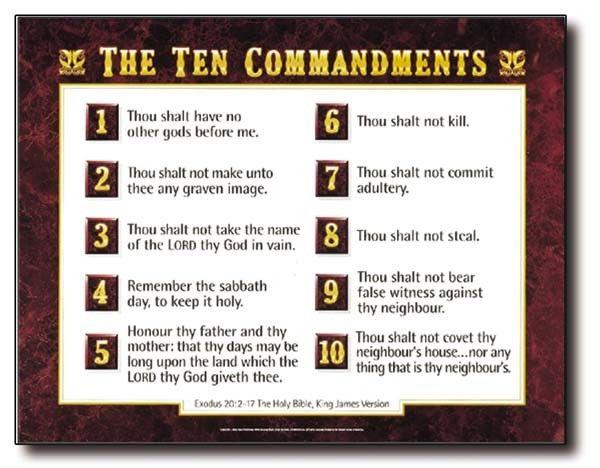 image regarding 10 Commandments Kjv Printable called Nasb 10 Commandments Checklist Printable Fantastic Gallery