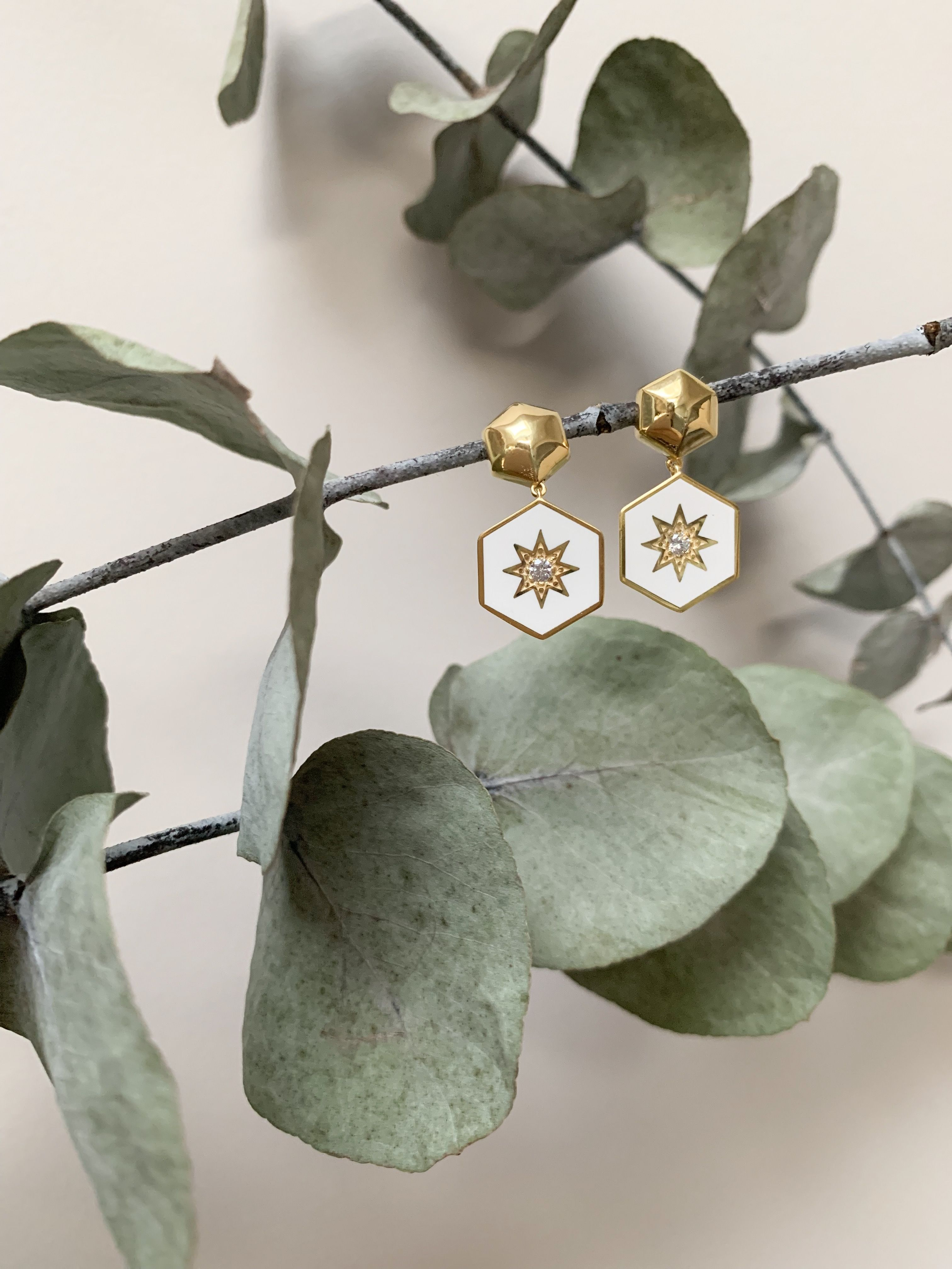 fd0785b2616a The gorgeous star earrings are perfect for lovers of vintage style.  Handcrafted in enamel they