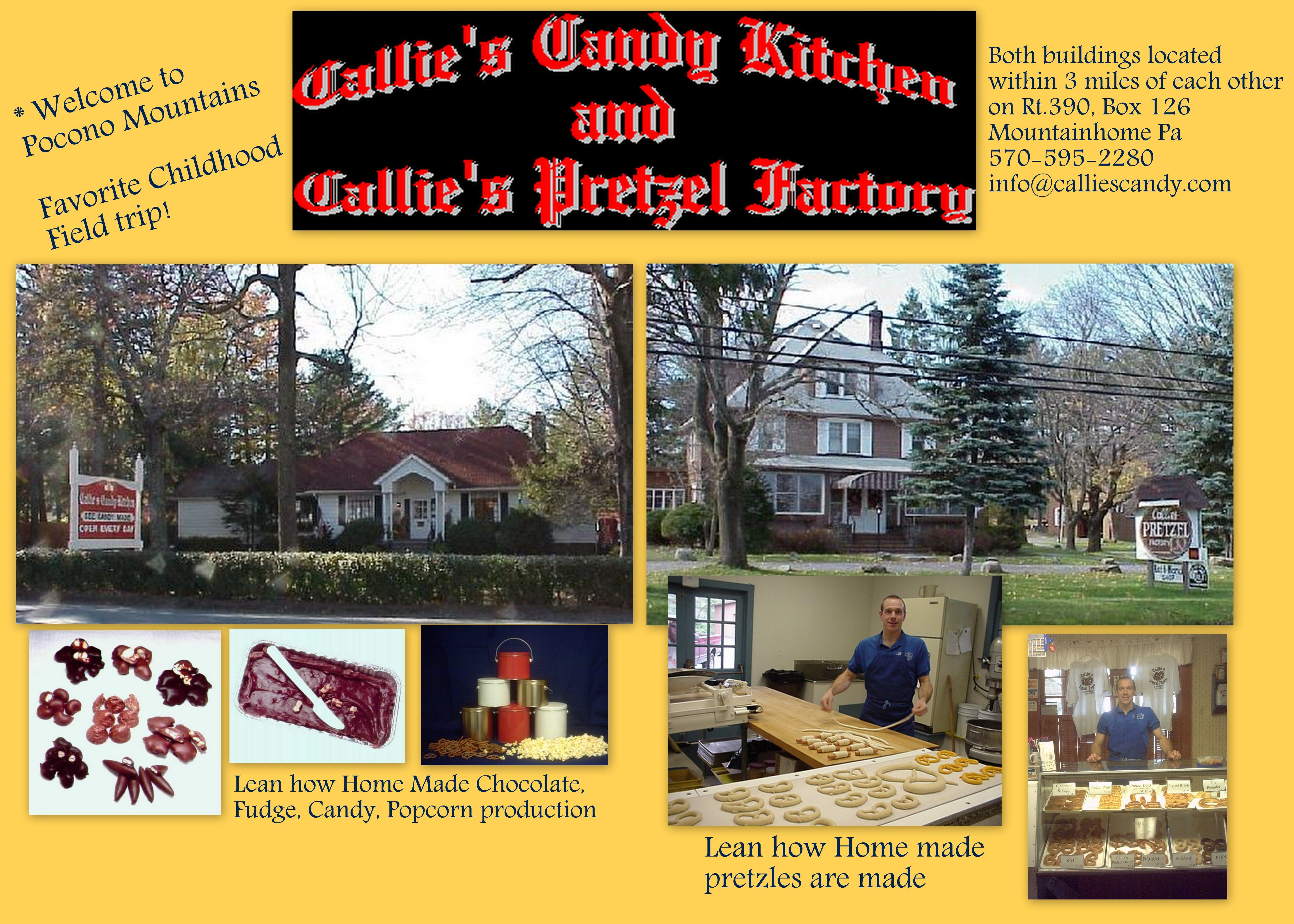 callies candy kitchen callies pretzel factory in the pocono mountains of pennsylvania - Callies Candy Kitchen