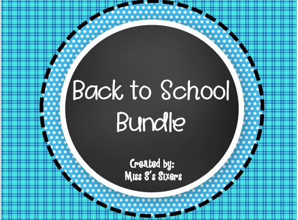 ON SALE FOR BACK TO SCHOOL!  This back to school bundle is 50 pages PACKED with fun activities!