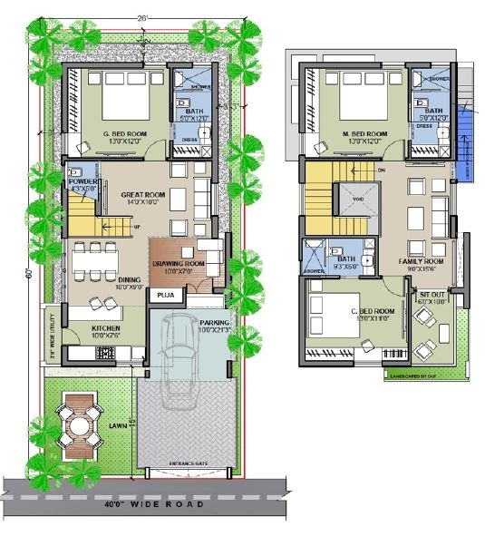 Peachy Ideas West Face Duplex House Plans Hyderabad 12 In Image In