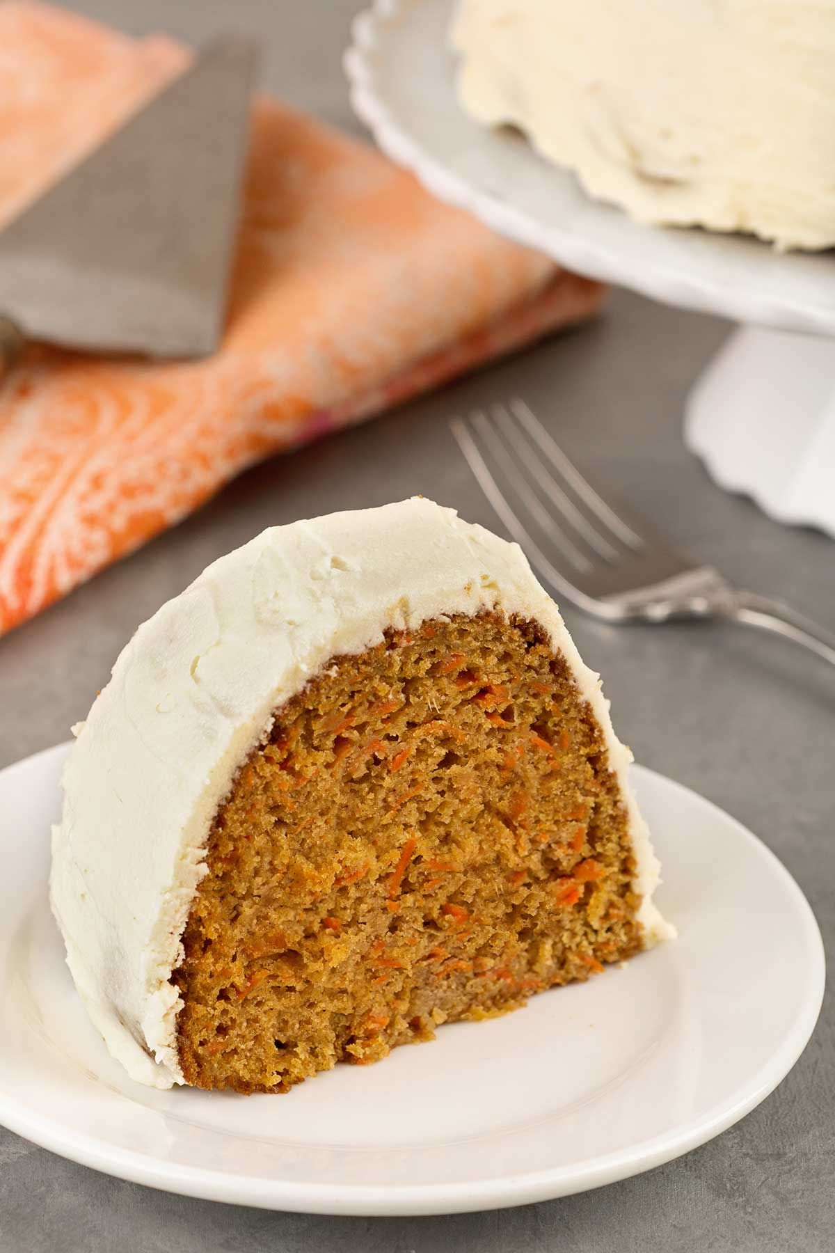 Carrot bundt cake with cream cheese frosting cake