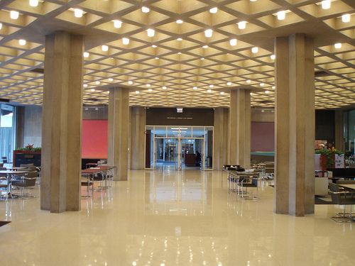 Concrete Waffle Ceiling - UofC Law Library
