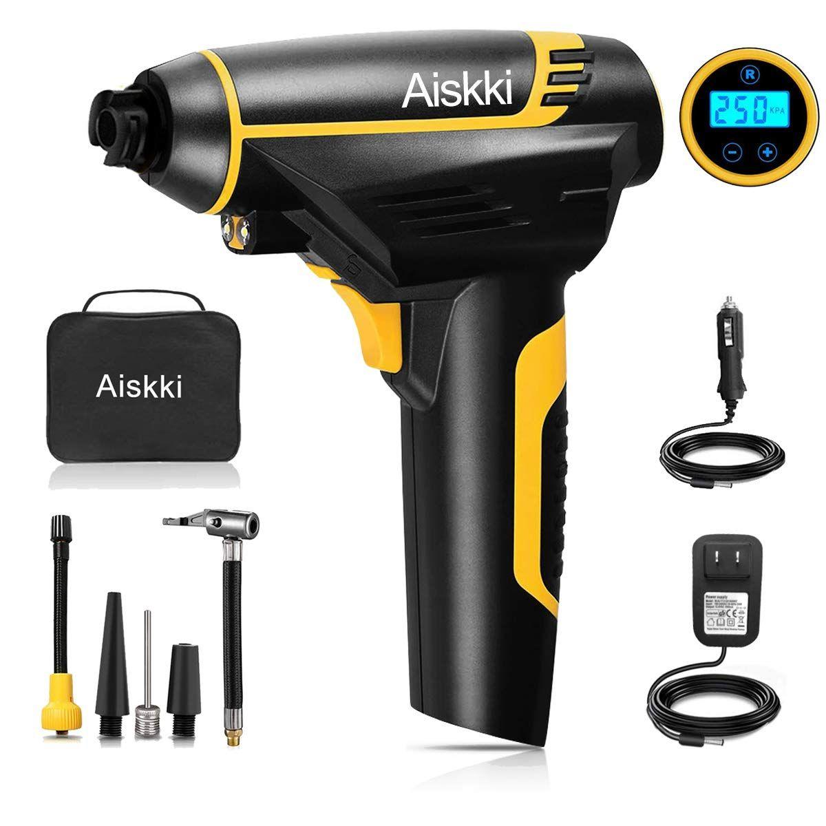 Aiskki Digital Cordless Inflator, Portable Tire Hand Held