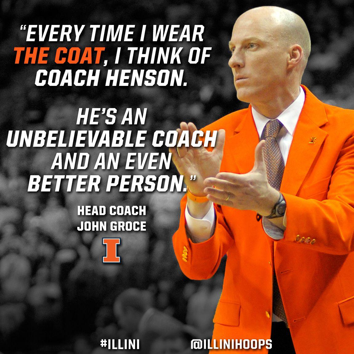 Doesn't Coach Groce look great in #Orange? #Illini