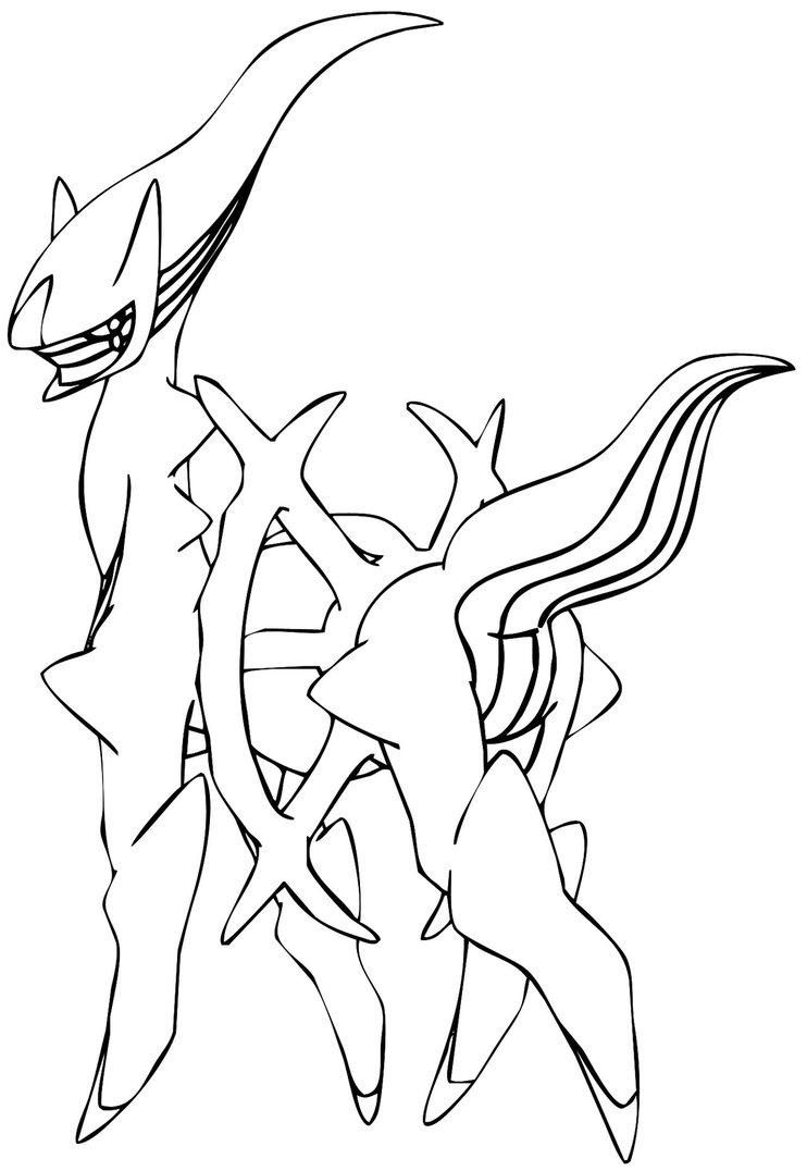 Arceus Legendary Pokemon Coloring Pages Pokemon Coloring Pages