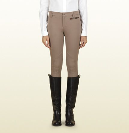 collection tan riding pant from equestrian collection Gucci