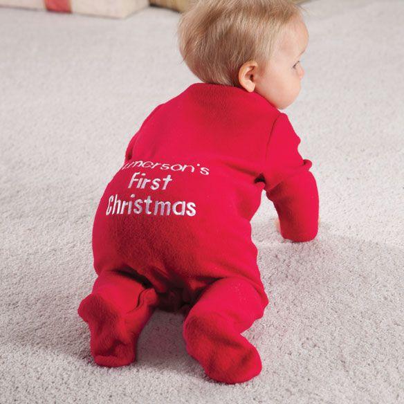 Personalized First Christmas Long Johns Em Xmas Family